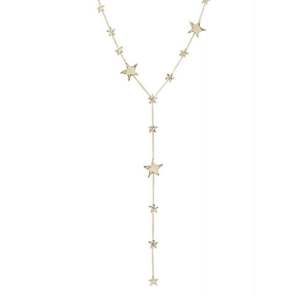 Multi Size Star Coin Y Necklace | Marcia Moran | Fashion Accessories | Necklaces