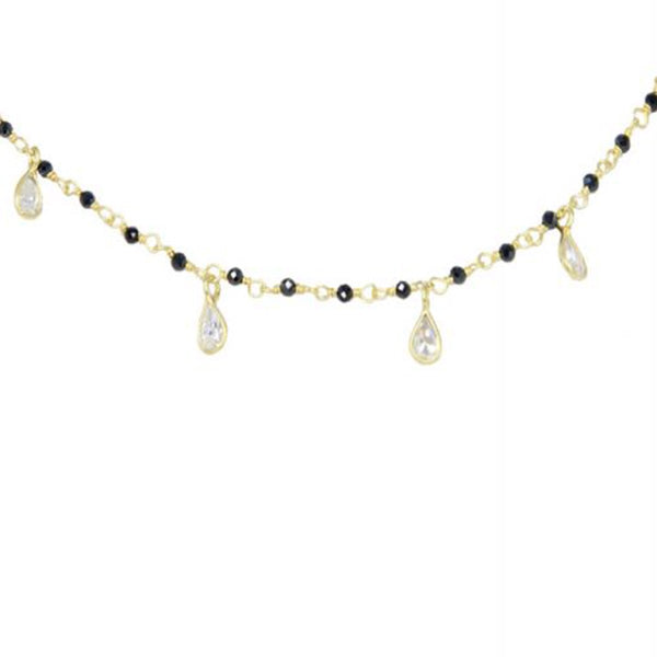 Cubic Zirconia Hanging Necklace | Marcia Moran | Fashion Accessories | Necklaces