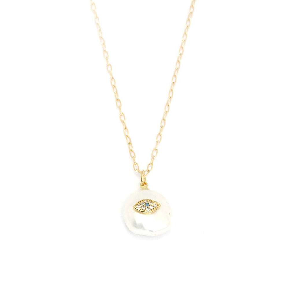 Pearl With Eye Shape Eye Necklace | Marcia Moran | Fashion Accessories | Necklaces