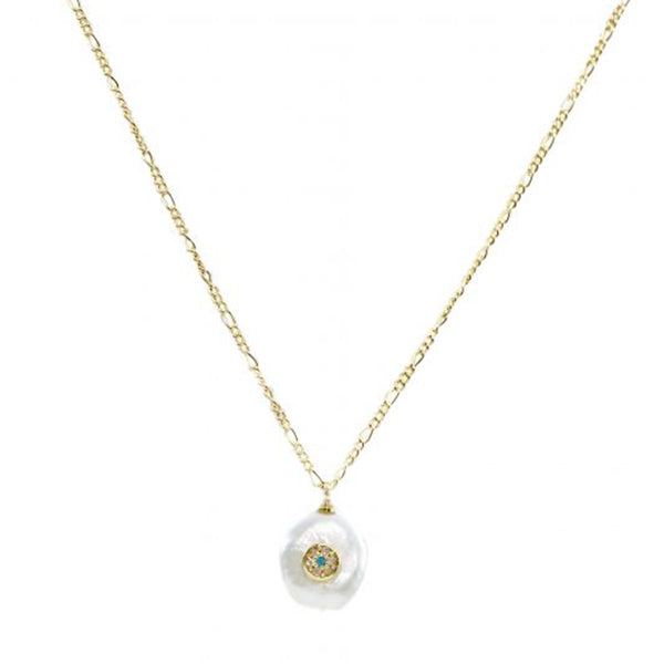 Pearl With Round Eye Necklace | Marcia Moran | Fashion Accessories | Necklaces