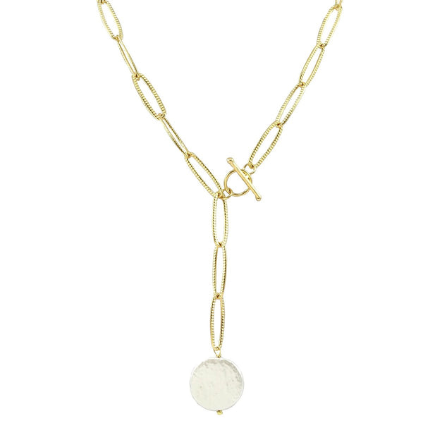 Pearl Drop Y Necklace | Marcia Moran | Fashion Accessories | Necklaces