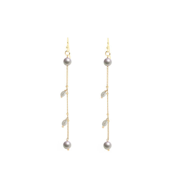 White Pearl Hanging Earrings | Marcia Moran | Fashion Accessories | Earrings