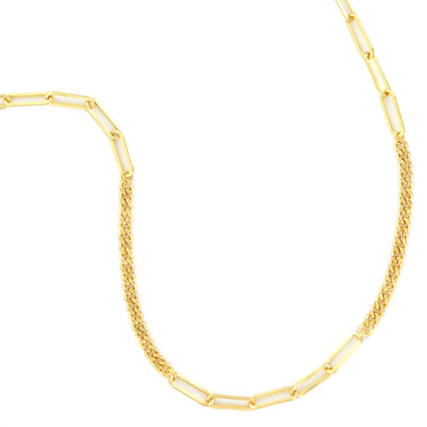 Sectional Curb Chain Necklace | Boom & Mellow | Fashion Accessories | Necklace
