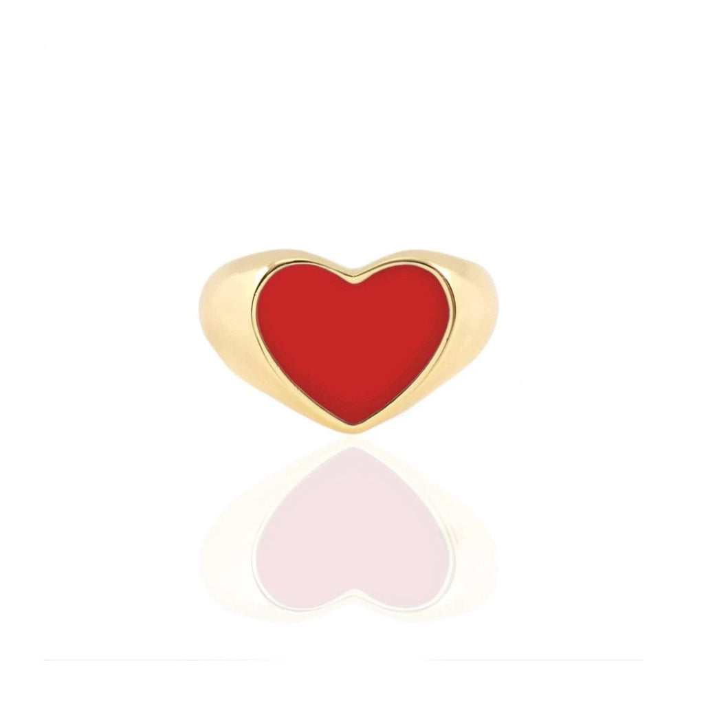 Heart Red Enamel Ring | Kris Nations | Fashion Accessories | Ring
