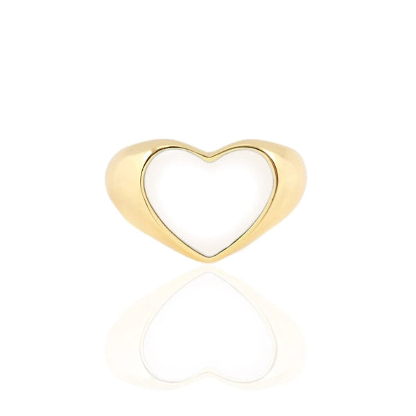 Heart White Enamle Ring | Kris Nations | Fashion Accessories | Ring
