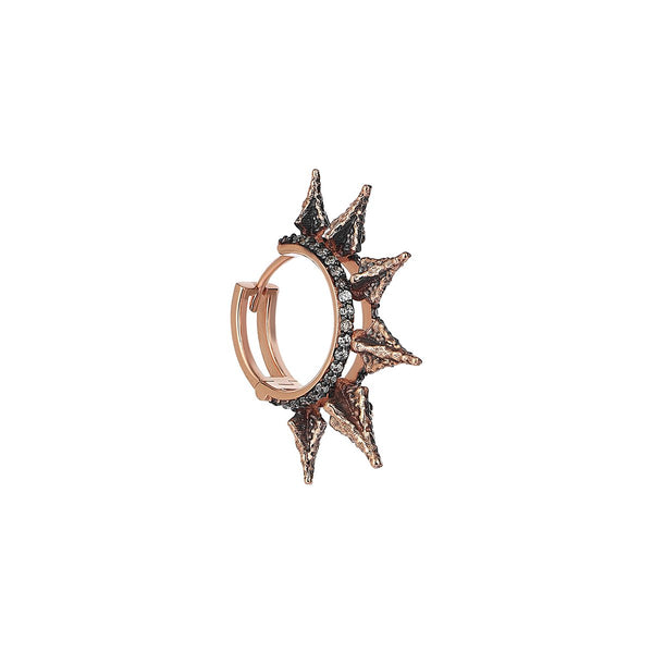 Single Piece 14K Rose Gold Spear Head Ring Earring | Kismet by Milka | Fine Jewelry | Earrings