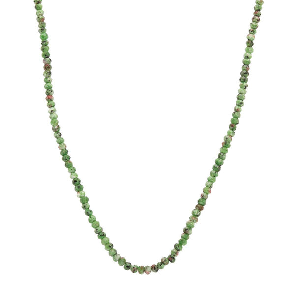 18K Gold Variscite Necklace | Boom & Mellow | Fine Jewelry | Necklace