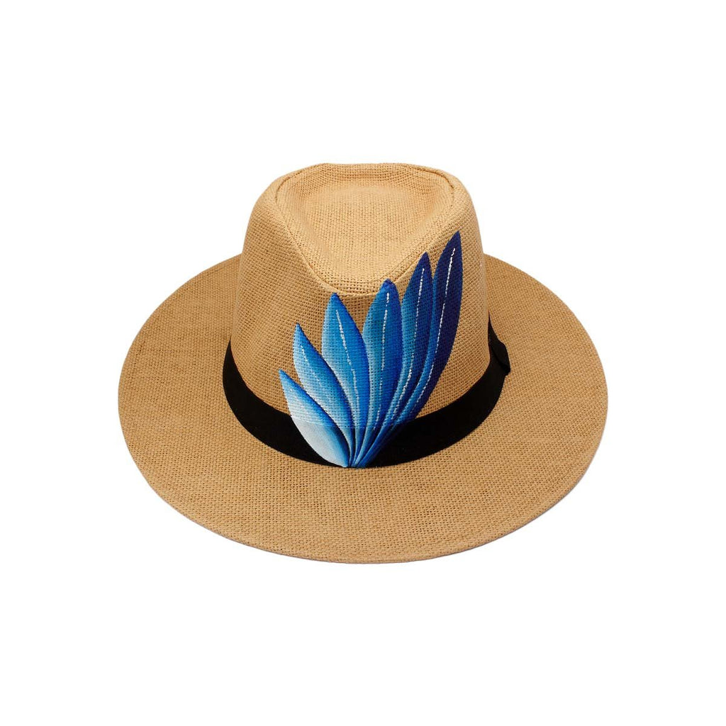 Deep blue feather wide rim hat | City Girl | Bag | Hat