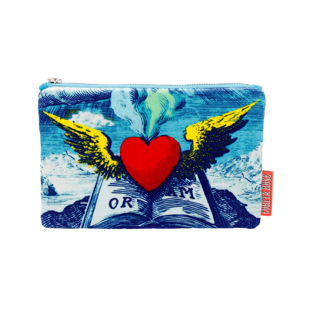 Large winged heart clutch | Corita Rose | Bag | Clutch Bag