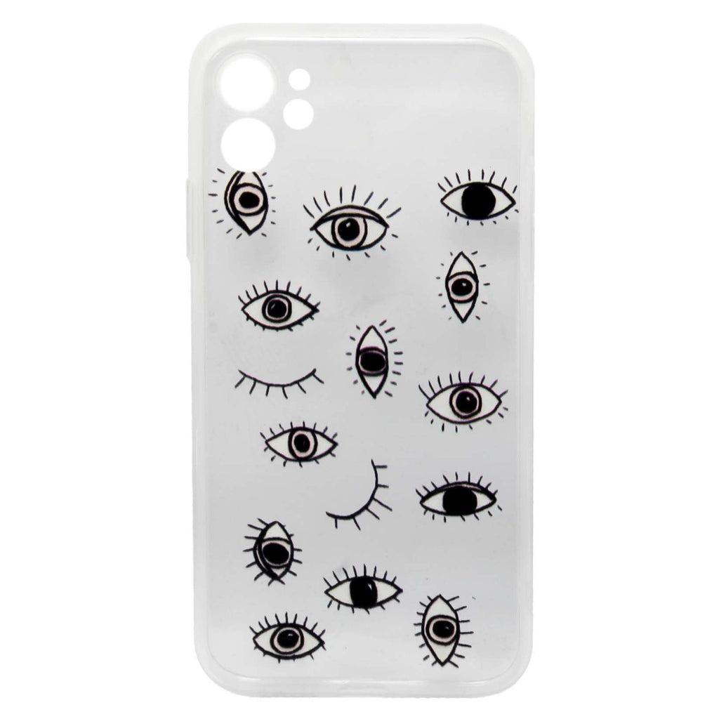 Iphone 11 Black Drawing Eye Transparent Case | You & Eye | Mobile Accessories | Phone Cover