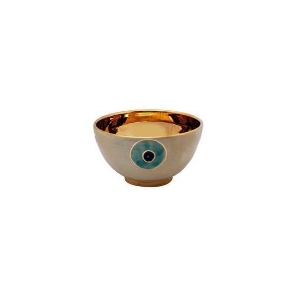 Extra Small Gold Golden Aprigon Eye Bowl | East Gallery | Home Accessories | Décor