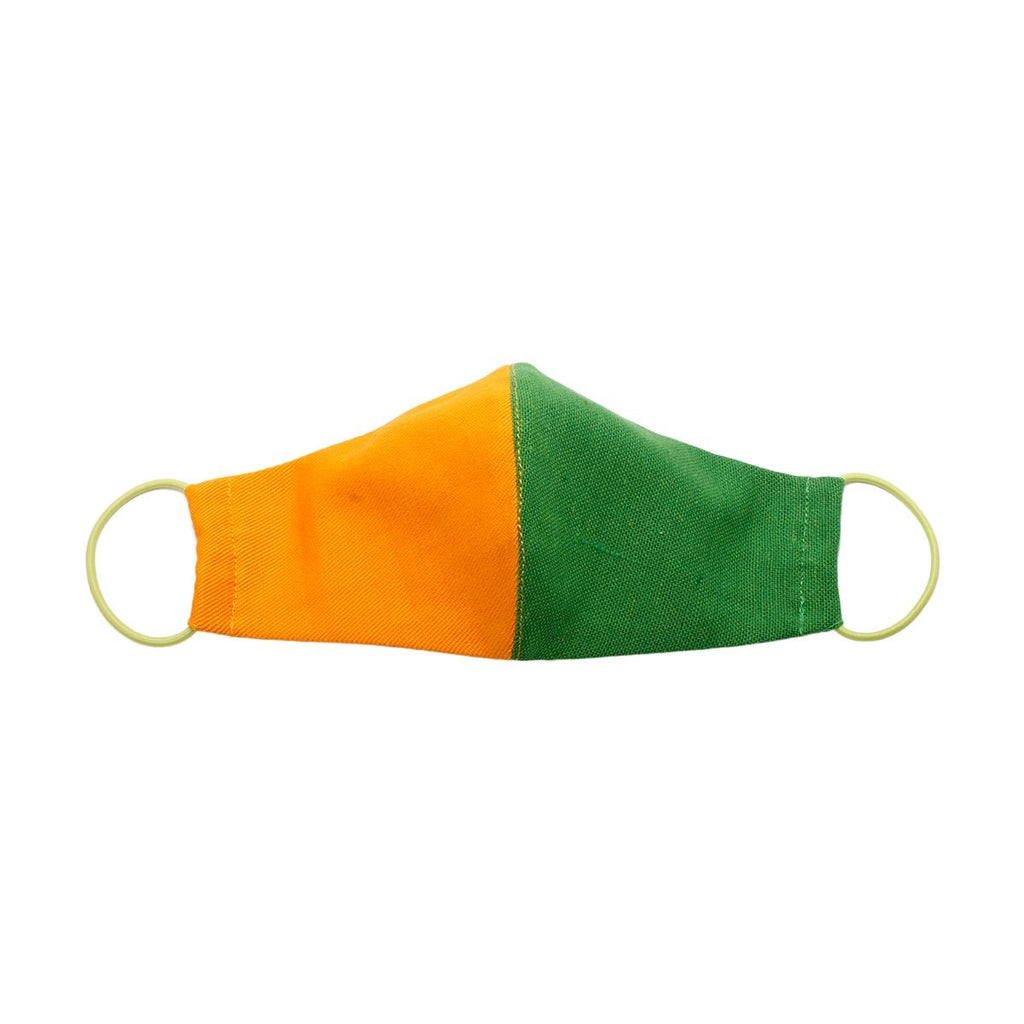 Plain Green And Orange Kid Mask | Lilly Keen | Fashion Accessories | Mask