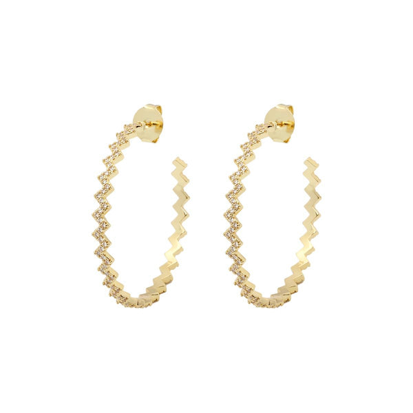 Zig Zag Noop Earrings | Gemelli | Fashion Accessories | Earrings