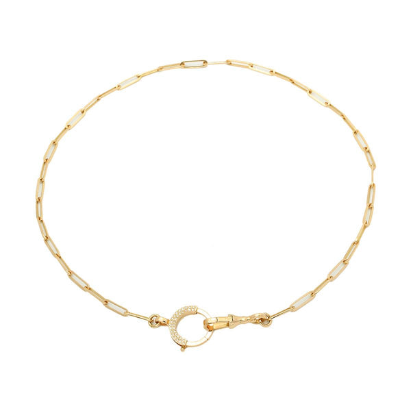 18K Gold Felicity Round Clasp Necklace | Stone | Fine Jewelry | Necklace