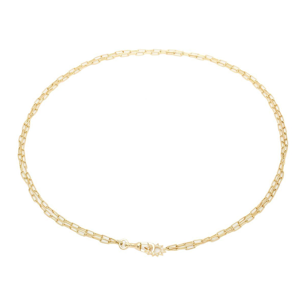 18K Gold Luminicity Star Lock Necklace | Stone | Fine Jewelry | Necklace