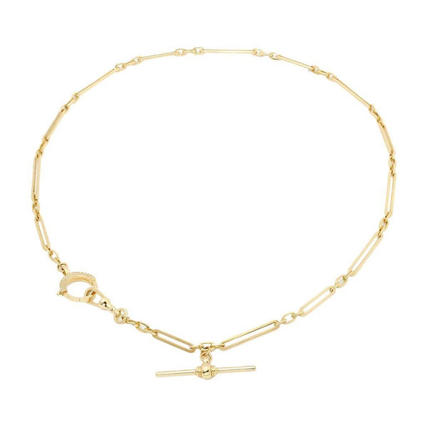 18K Gold Victory Chain Necklace | Stone | Fine Jewelry | Necklace