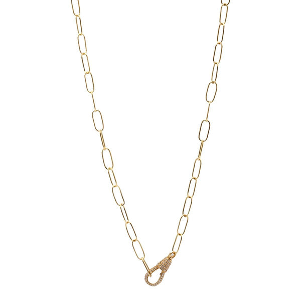 18K Gold Etenity Necklace | Stone | Fine Jewelry | Necklace