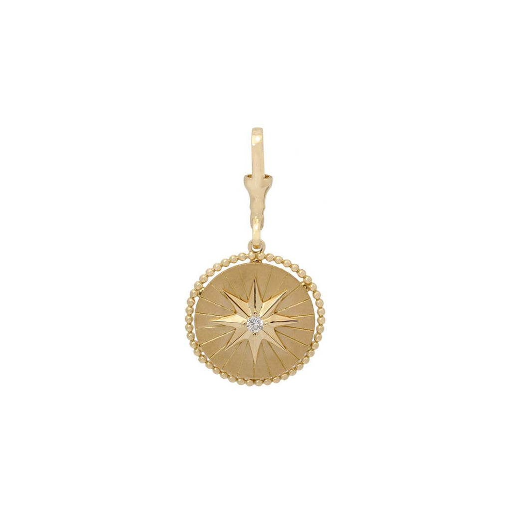 18K Gold North Star Pendant | Stone | Fine Jewelry | Pendant
