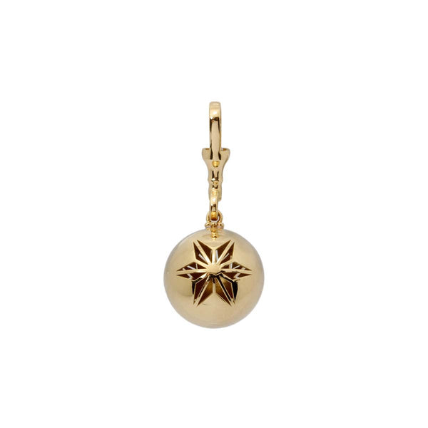 18K Gold Big Ball Pendant | Stone | Fine Jewelry | Pendant