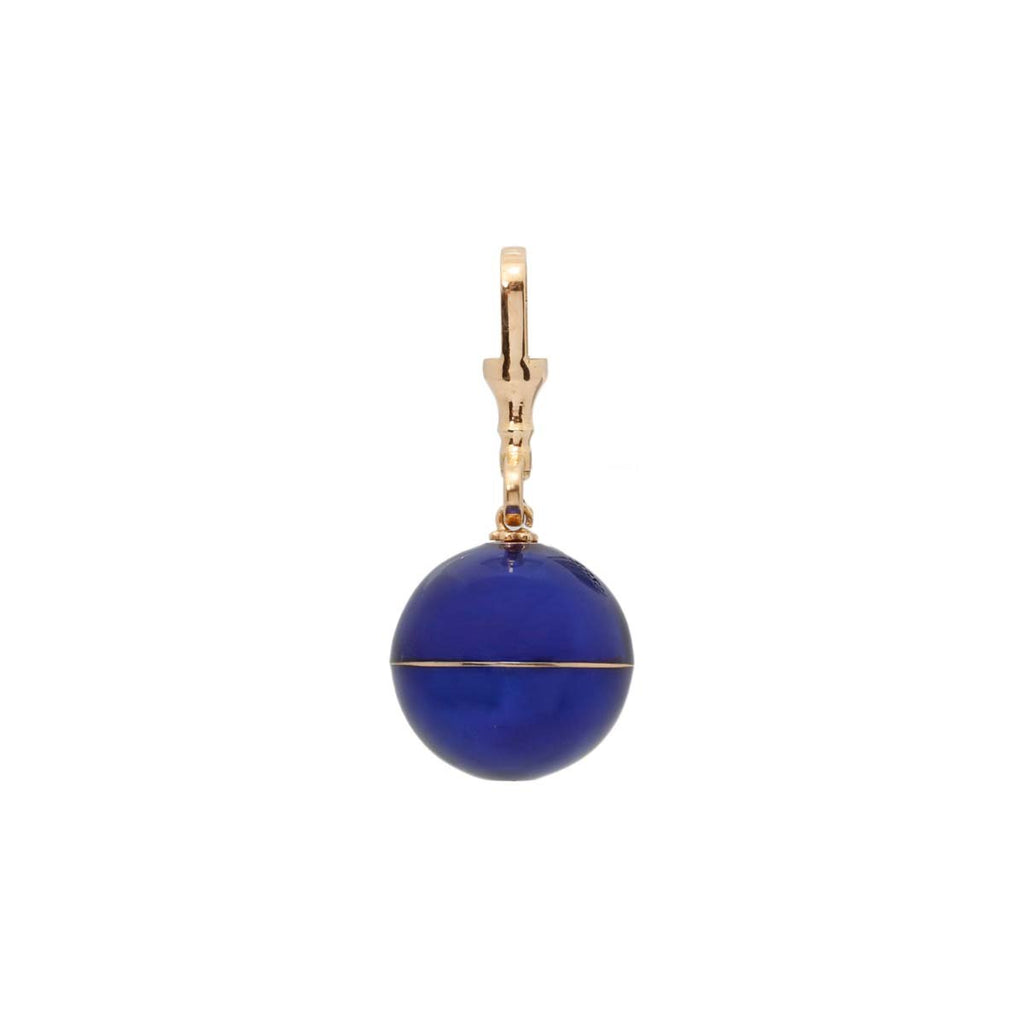 18K Gold Royal Blue Enamel Pendant | Stone | Fine Jewelry | Pendant