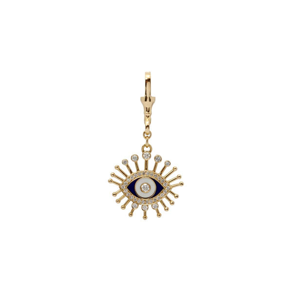 18K Gold Lucille Eye Pendant | Stone | Fine Jewelry | Pendant