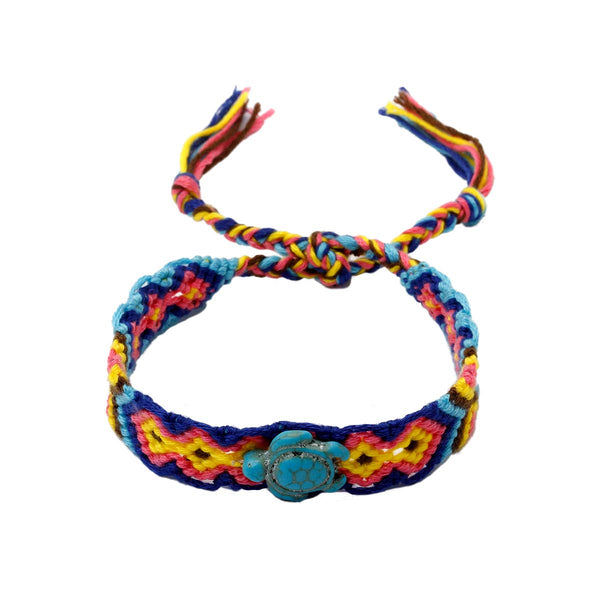 Sea Turtle Blue Friendship Bracelet | Boom & Mellow | Fashion Accessories | Bracelet