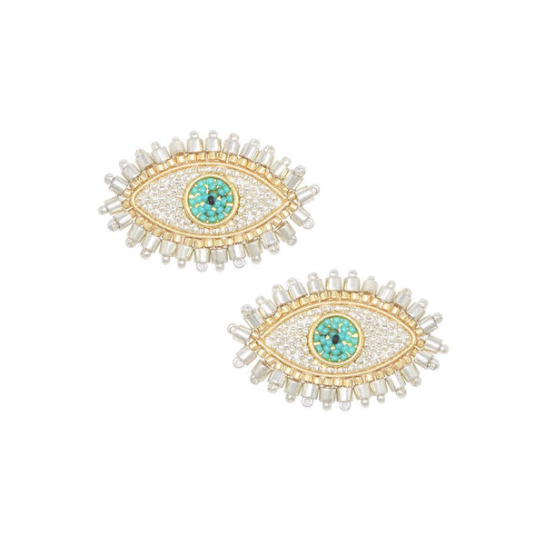Silver Evil Eye Earrings | Mishky | Fashion Accessories | Earrings