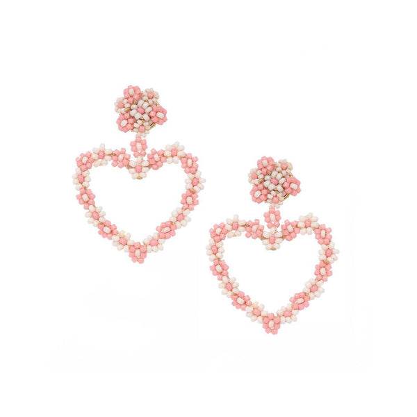 Pink Heart Earrings | Mishky | Fashion Accessories | Earrings