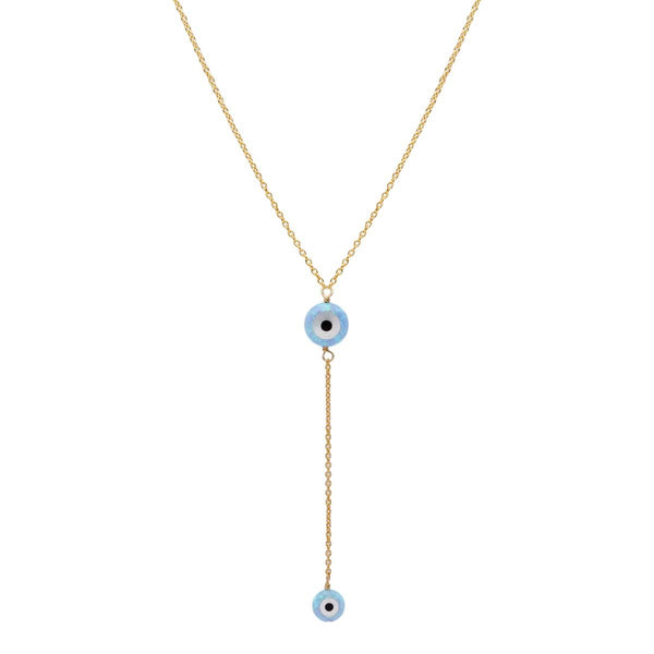 Small And Medium Blue Round Eye Necklace | Bara Boheme | Fashion Accessories | Necklace