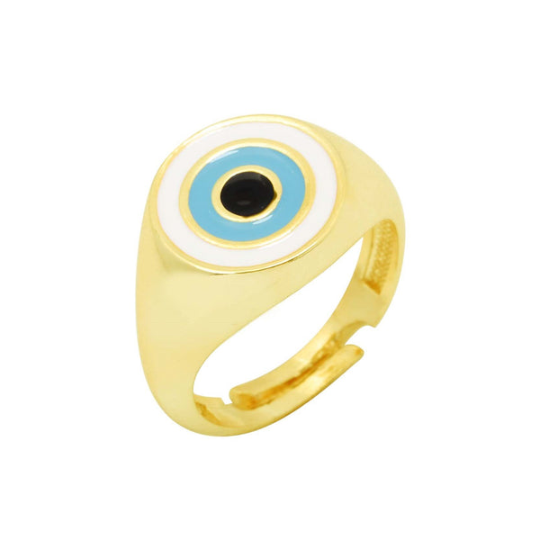 Round Turquoise Evil Eye Ring | You & Eye | Fashion Accessories | Ring