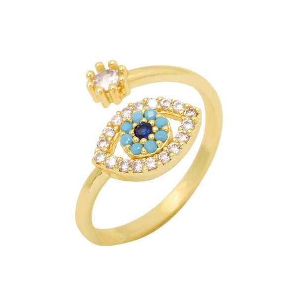 Zircon Evil Eye Open Ring | You & Eye | Fashion Accessories | Ring