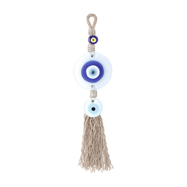White Big Evil Eye Macrame Wall Hanging | You & Eye | Home Accessories | Decoration