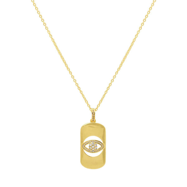 Dog Tag Evil Eye Necklace | You and Eye | Fashion Accessries | Necklace