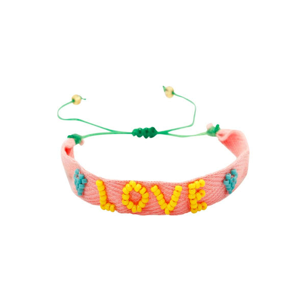 Love Beaded Pink Bracelet | You and Eye | Fashion Accessries | Bracelet