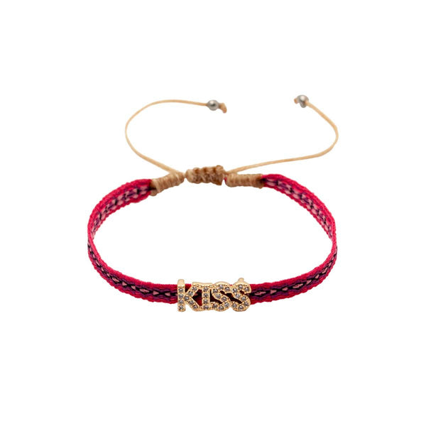 Kiss Pink Rope Bracelet | You and Eye | Fashion Accessries | Bracelet