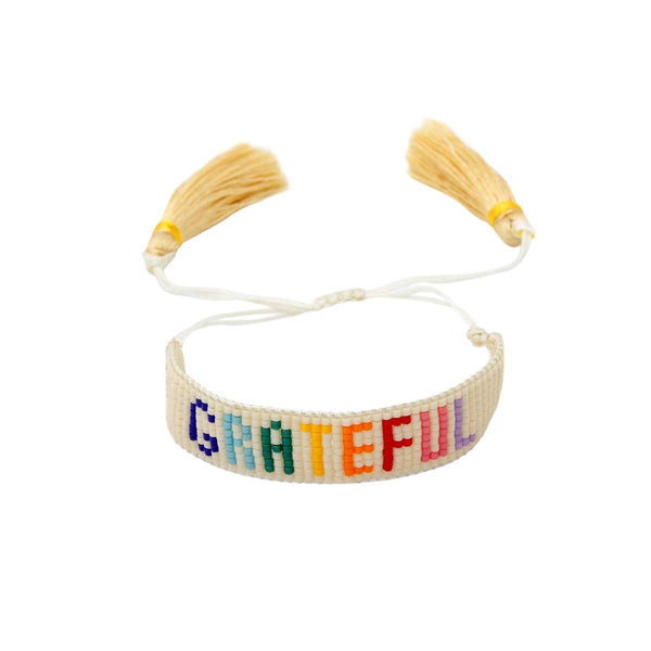 Grateful Beaded Bracelet | Boom & Mellow | Fashion Accessories | Bracelet
