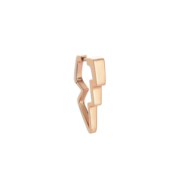 14K Rose Gold Thunderstorm Plain Gold Medium Earring | Kismet by Milka | Fine Jewelry | Earrings