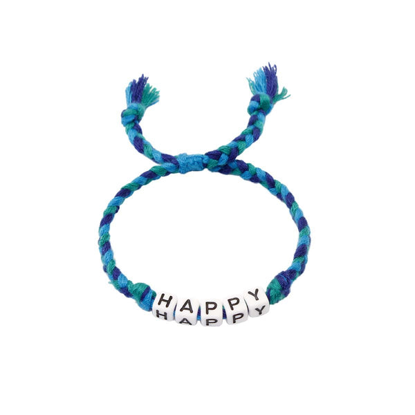 Happy Braided Bracelet | Decorate & Donate | Fashion Accessories | Bracelet