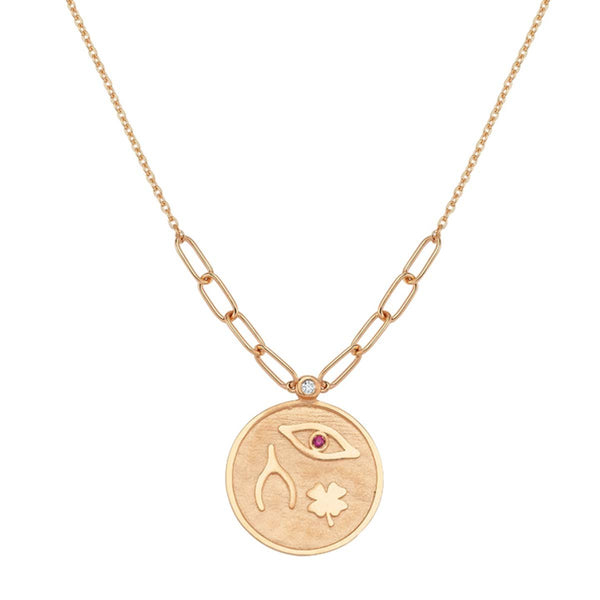 14K Rose Gold Luck Necklace | Lope | Fine Jewelry | Necklace