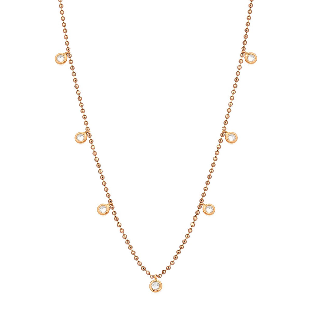 14K Rose Gold Top Top Solitaire Necklace | Kismet by Milka | Fine Jewelry | Necklace