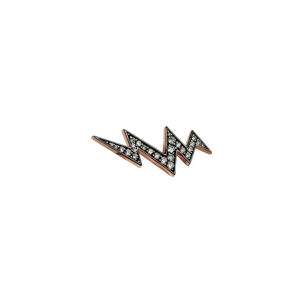 Single Piece 14K Rose Gold Flash Stud Earring | Kismet by Milka | Fine Jewelry | Earrings