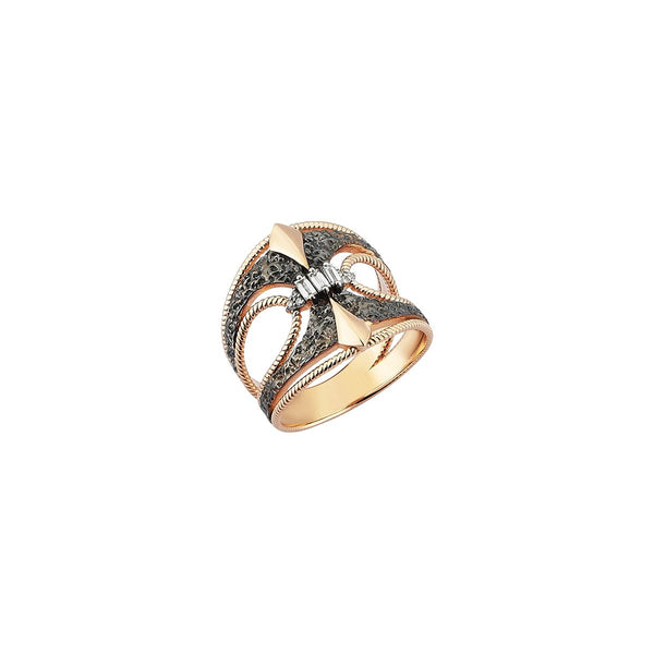 14K Rose Gold Balcony Pinky Ring | Kismet by Milka | Fine Jewelry | Ring
