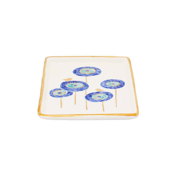 Eye Bird Square Plate | East Gallery | Home Accessories | Decoration