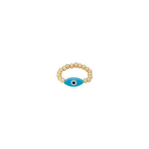 Turquoise Oval Eye Ring | Bara Boheme | Fashion Accessories | Ring