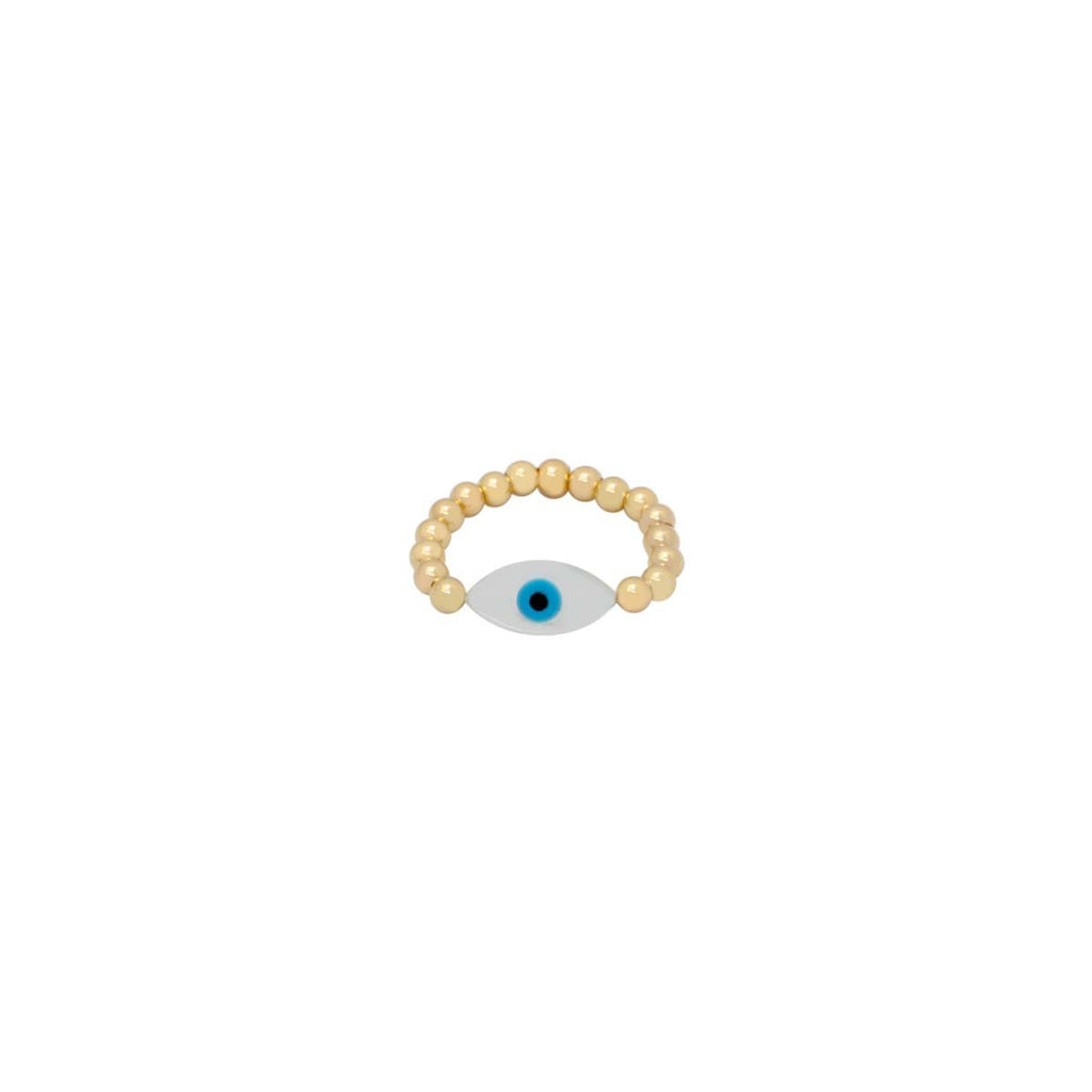 White Oval Eye Ring | Bara Boheme | Fashion Accessories | Ring