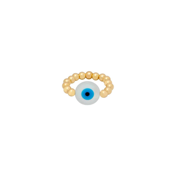 4Mm White Round Eye Ring | Bara Boheme | Fashion Accessories | Ring