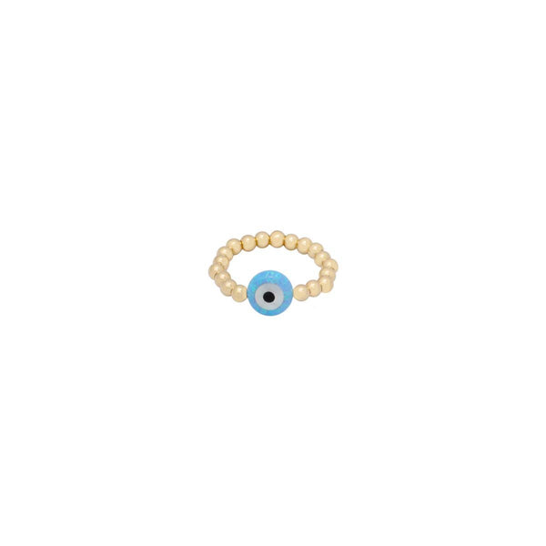 Medium Blue Round Eye Ring | Bara Boheme | Fashion Accessories | Ring