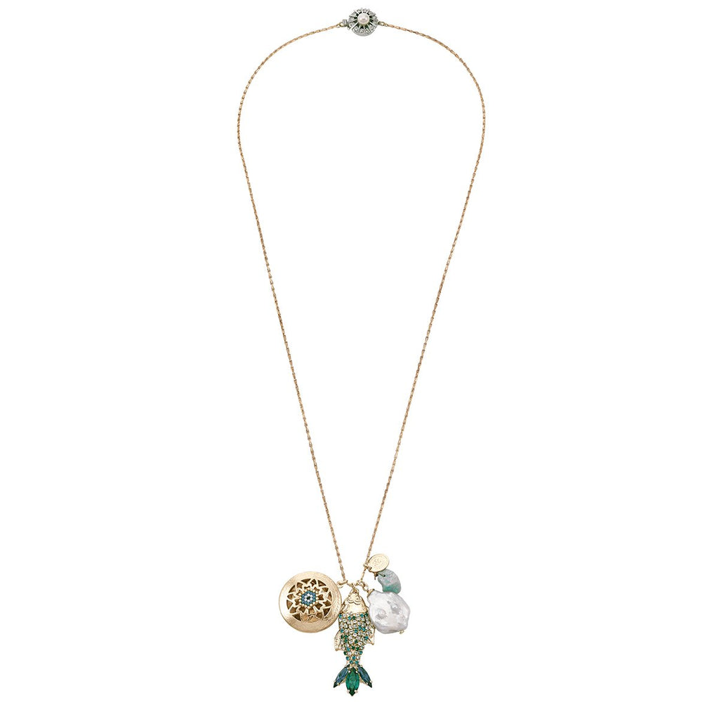 Seafoam Green Long Necklace | Anton Heunis | Fashion Accessories | Necklace