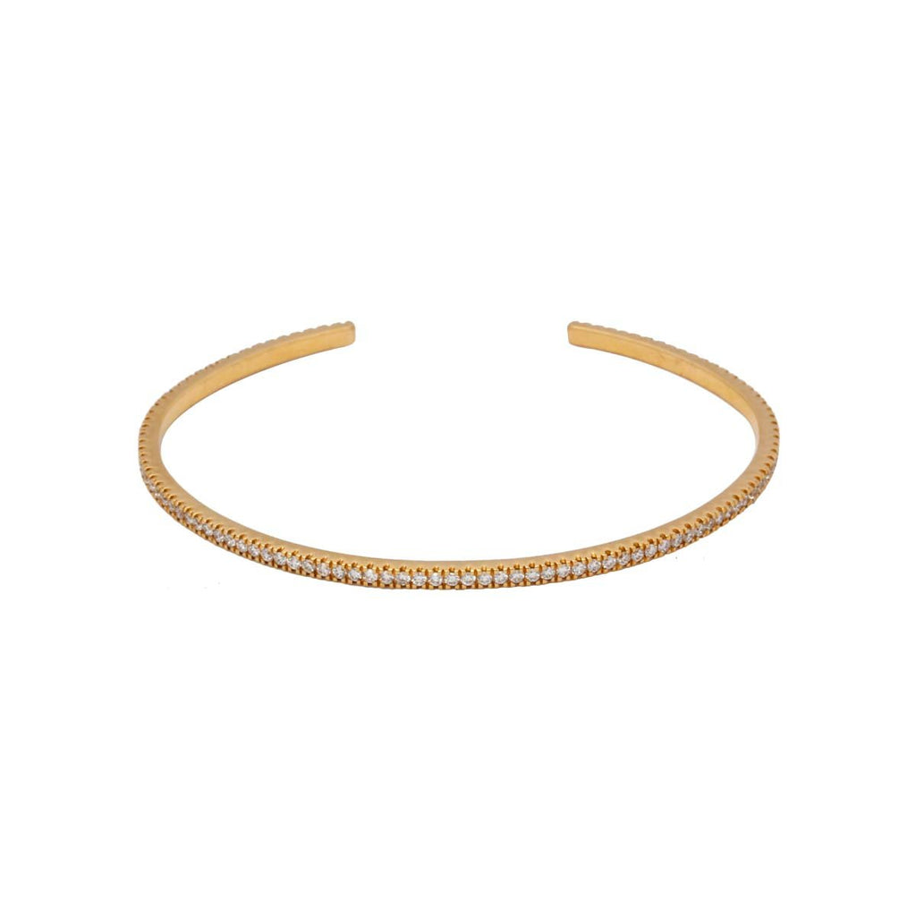 18K Gold Diamond Bangle | Nada Le Cavelier | Fine Jewelry | Bracelets