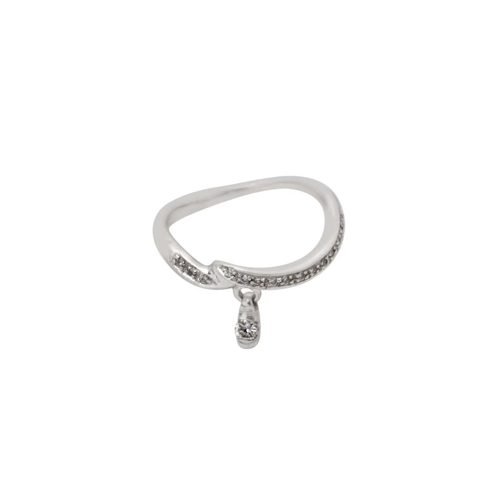 18K White Gold Dangling Diamond Ring | Nada Le Cavelier | Fine Jewelry | Ring